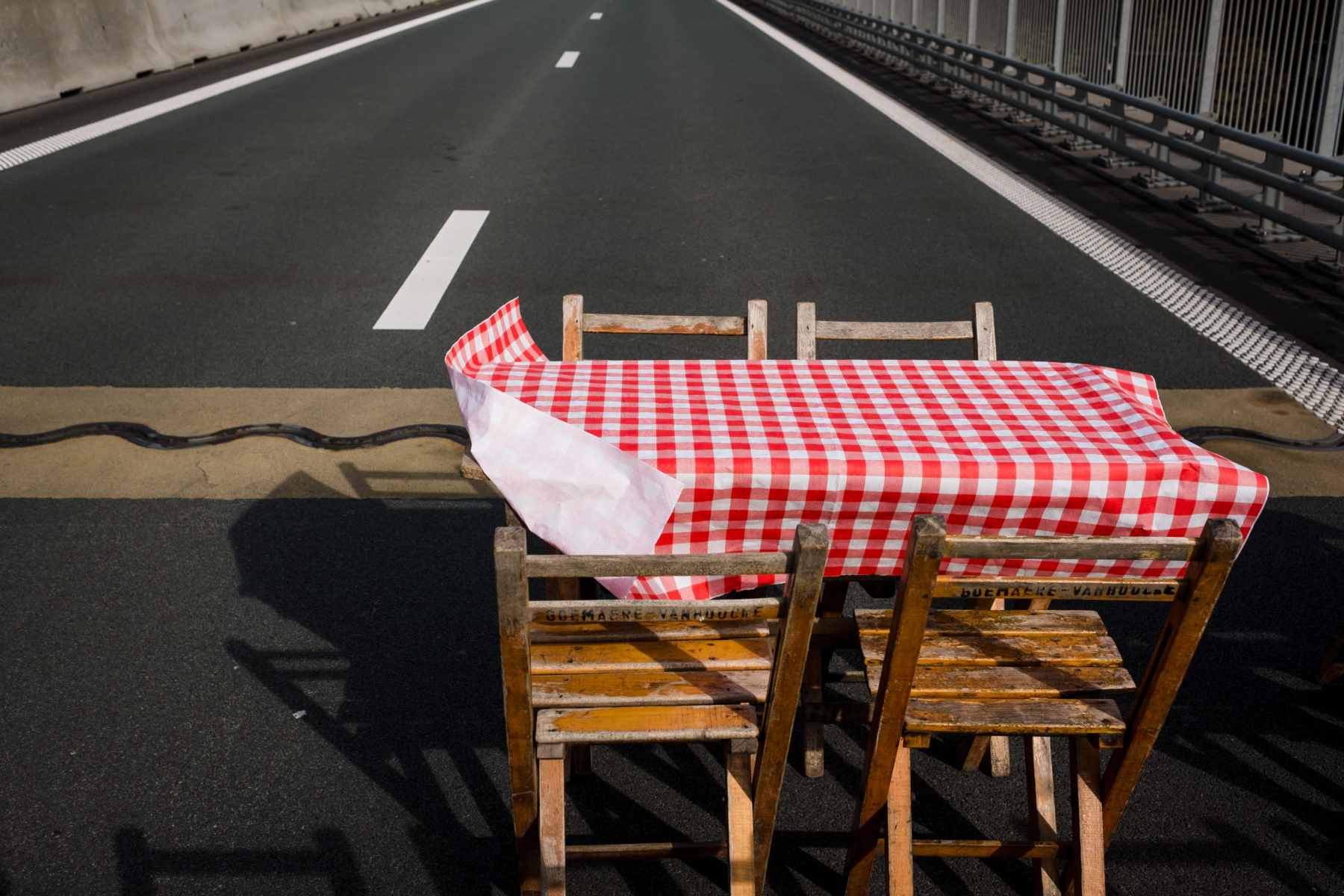 table on road